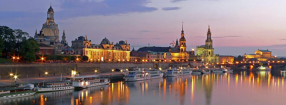 Blick auf die barocke Altstadt Dresden